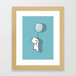 Hungry Westie Puppy Framed Art Print