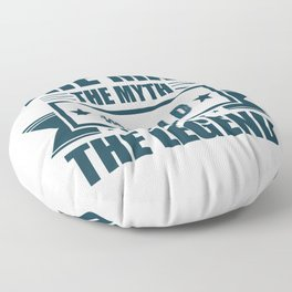 The man the myth Ronald the legend quote gift Floor Pillow