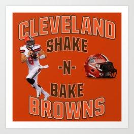 Shake n Bake  Browns Art Print