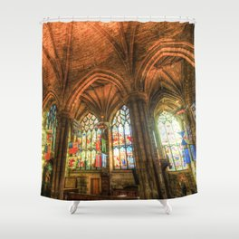 Winter Sun Cathedral Shower Curtain