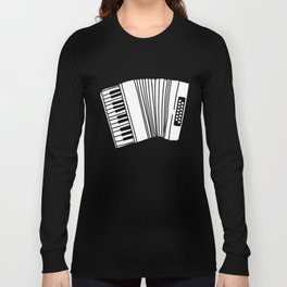 Accordion Player Melodeon Piano Accordionist Gift Long Sleeve T-shirt
