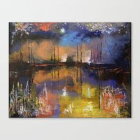 fireworks Canvas Prints featuring Fireworks by Michael Creese