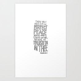 Isaiah 26:3  Art Print