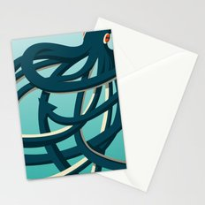 Octopus blue Stationery Cards