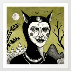 Twilight Green Art Print