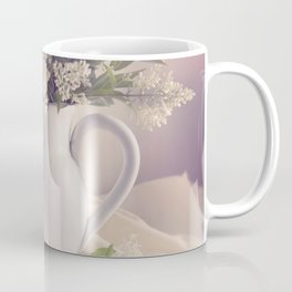 Still life with white privet flowers Coffee Mug