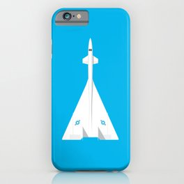 XB-70 Valkyrie Jet Aircraft - Cyan iPhone Case