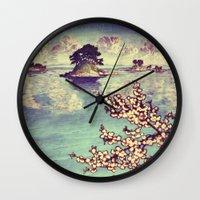 japanese Wall Clocks featuring Watching Kukuyediyo by Kijiermono
