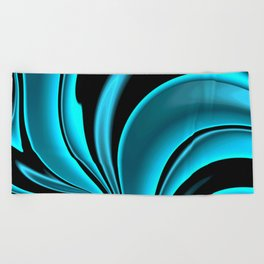 Abstract Fractal Colorways 02 Pacific Blue Beach Towel