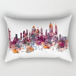 New York Skyline Silhouette Rectangular Pillow