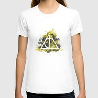 deathly hallows T-shirts featuring The Deathly Hallows (Hufflepuff) by FictionTea