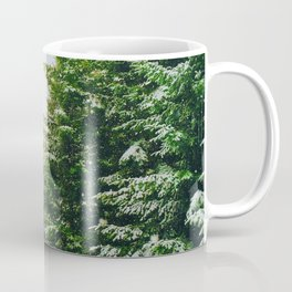 Winter Pine Tree Forest (Color) Coffee Mug