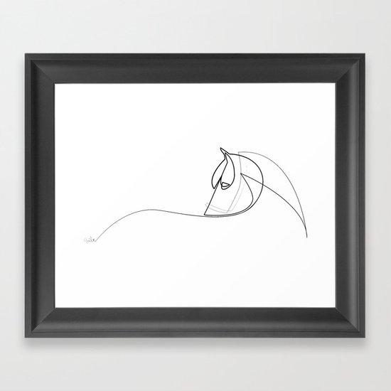 Pony line Framed Art Print