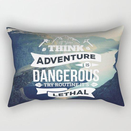 Adventure Quote Rectangular Pillow