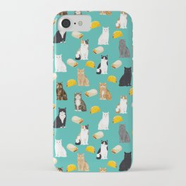 Cat breed tacos and burritos cute kitty lover pet gifts must have mexican food night iPhone Case
