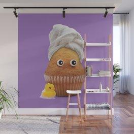 Towel cream Wall Mural