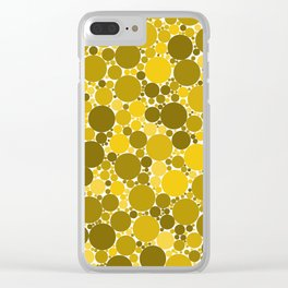 Sparse watercolor confetti dot colorful on white background. Chaotic pattern circle digital. Clear iPhone Case