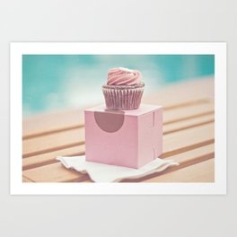 Californian Cupcake Art Print