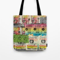 posters Tote Bags featuring Faux Posters 01 by Irman Hilmi