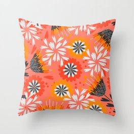 Sweet floral spring pattern Throw Pillow