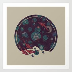 Amongst the Lilypads Art Print