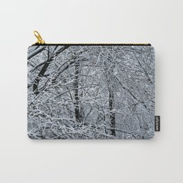 Late Winter Snow Entanglement Carry-All Pouch