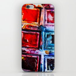colorful artistic creative watercolor paints iPhone Skin