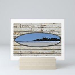 Long Beach Tofino on Surf and Wood | DopeyArt Mini Art Print
