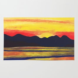 Salish Sea Sunset Rug