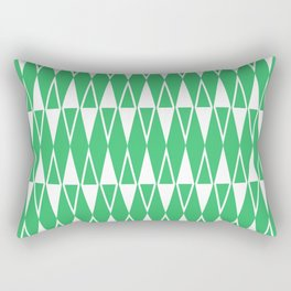 Mid Century Modern Diamond Pattern Green 234 Rectangular Pillow
