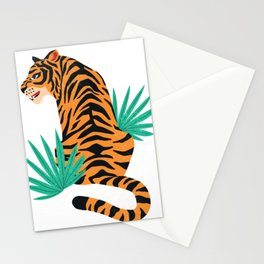 Tiger with leaves Stationery Cards
