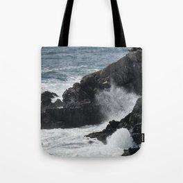 Waves Crashing on the Coast Tote Bag