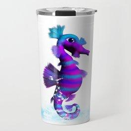 Seahorse in splashing Water Travel Mug