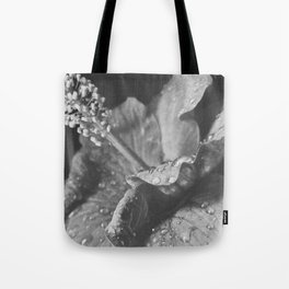 Tear Drops on Ibiscus Tote Bag