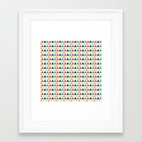 triangle Framed Art Prints featuring triangle by Sébastien BOUVIER