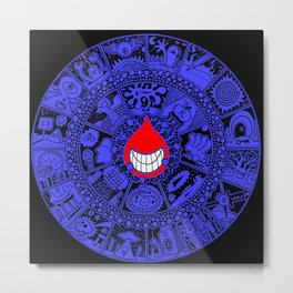 The Drop Blue Black Metal Print