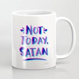 Not Today, Satan – Cyan & Magenta Palette Coffee Mug