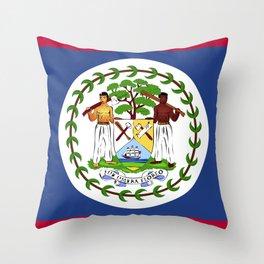 Belize flag emblem Throw Pillow
