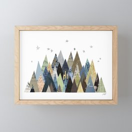 Mountain Collage Framed Mini Art Print