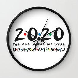 Seniors Class of 2020 Shirt Graduation Social Distance Expert Distancing Wall Clock