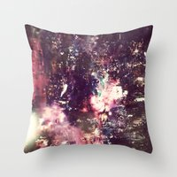 lightning Throw Pillows featuring lightning by christine nissen
