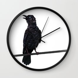 Verklempt Crow Wall Clock