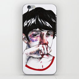 bloody boy iPhone Skin