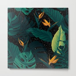 Galaxy Stars Nature Pattern Metal Print