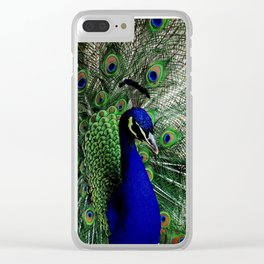Proud Peacock Clear iPhone Case