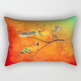 Parrots Sun Conures Rectangular Pillow