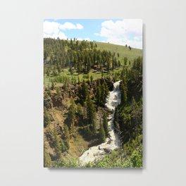 Undine Falls Yellowstone N P Metal Print