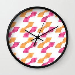 Konami Orange/Pink Pixel Logo Wall Clock