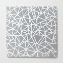 Abstract Outline Thick White on Grey by projectm