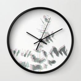 Eucalyptus Shadows Wall Clock